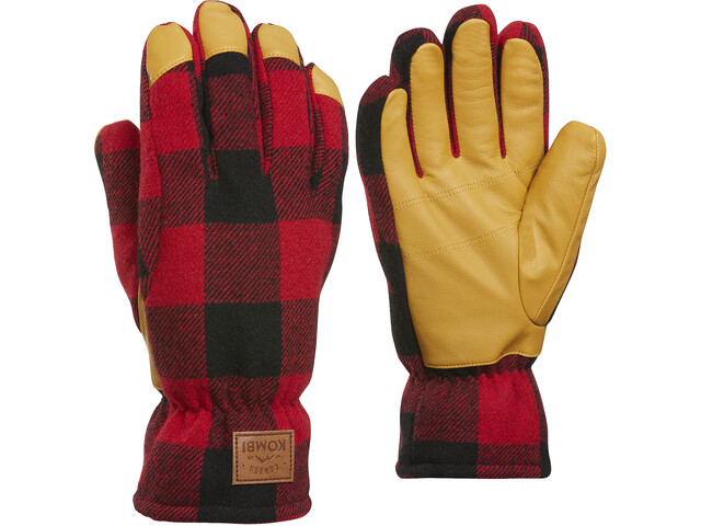 KOMBI Timber Gloves Herre Red Buffalo Plaid